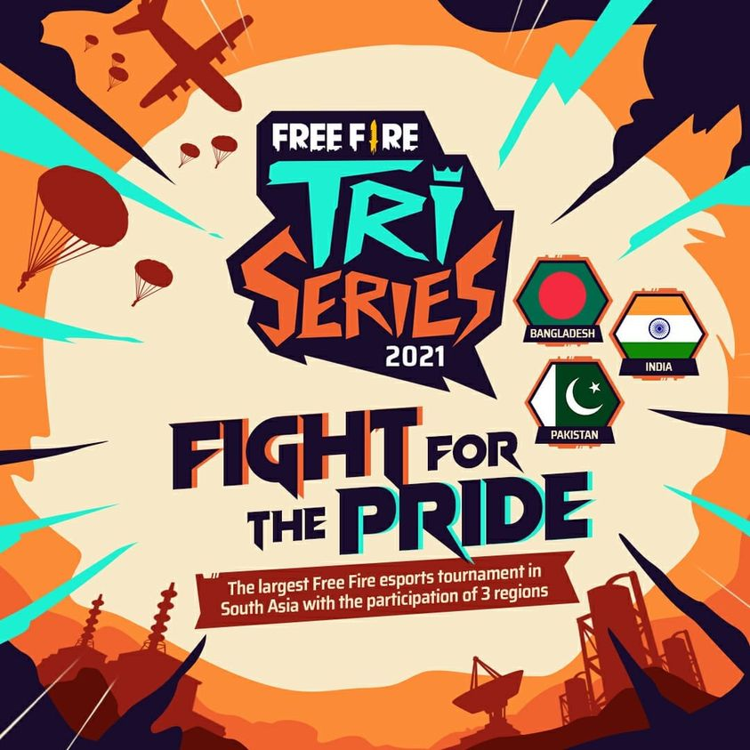 Free Fire Tri-Series Banner