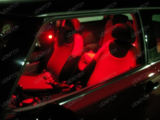 2005 mini cooper s installed with red led interior lights ijdmtoy automotive lighting blog. Black Bedroom Furniture Sets. Home Design Ideas