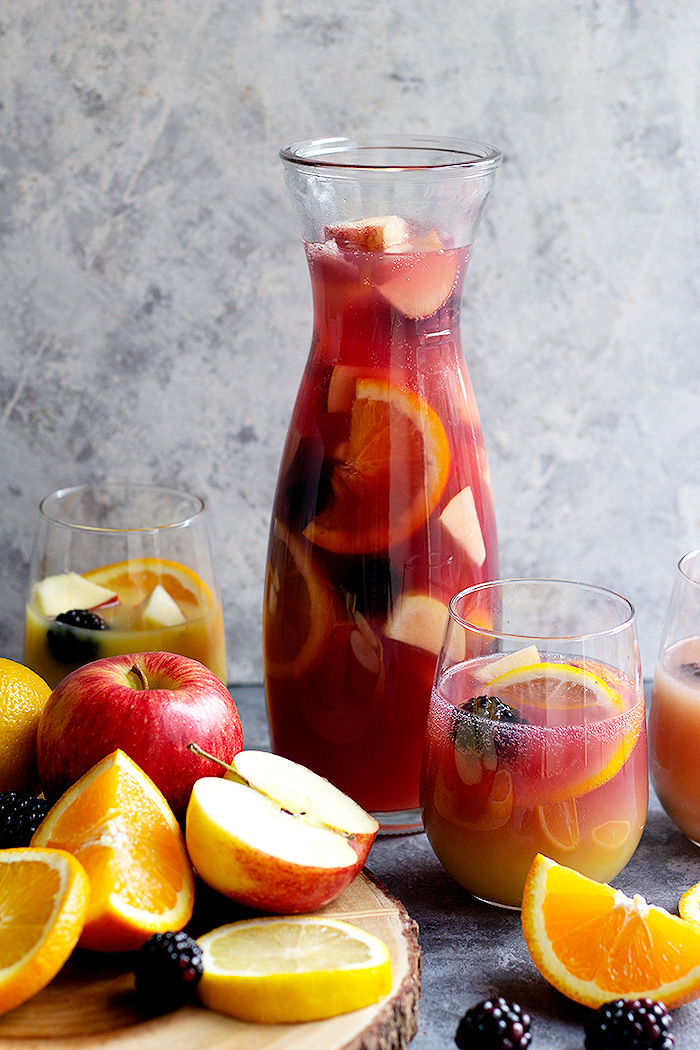 Here is a delightful non-alcoholic sangria recipe that is a great pairing around holiday festivities and dinner. This virgin sangria recipe is beautiful and easy to make.