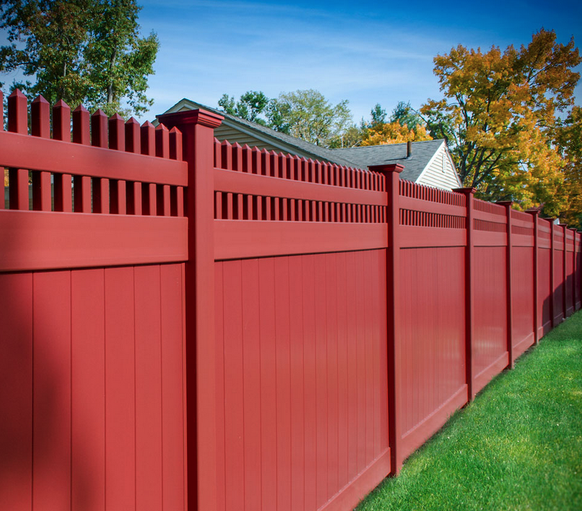 Red Vinyl Fence Colors