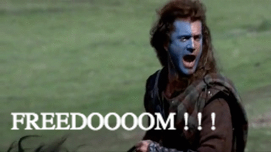 William Wallace Freedom Gif