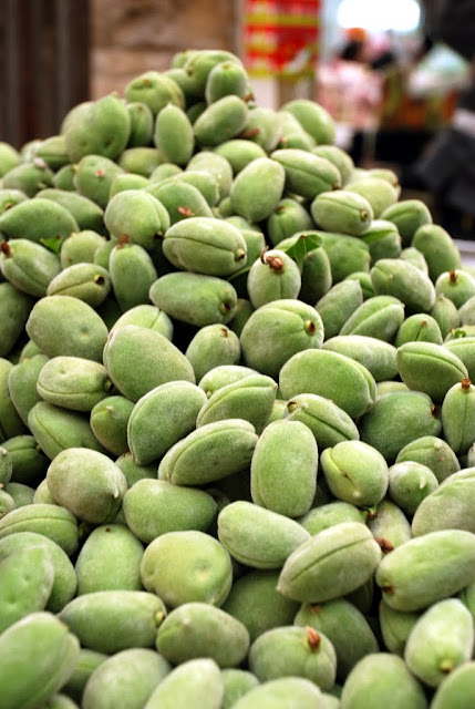 almonds at the souk, outdoor market