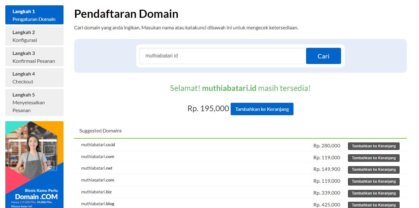 Pendaftaran domain