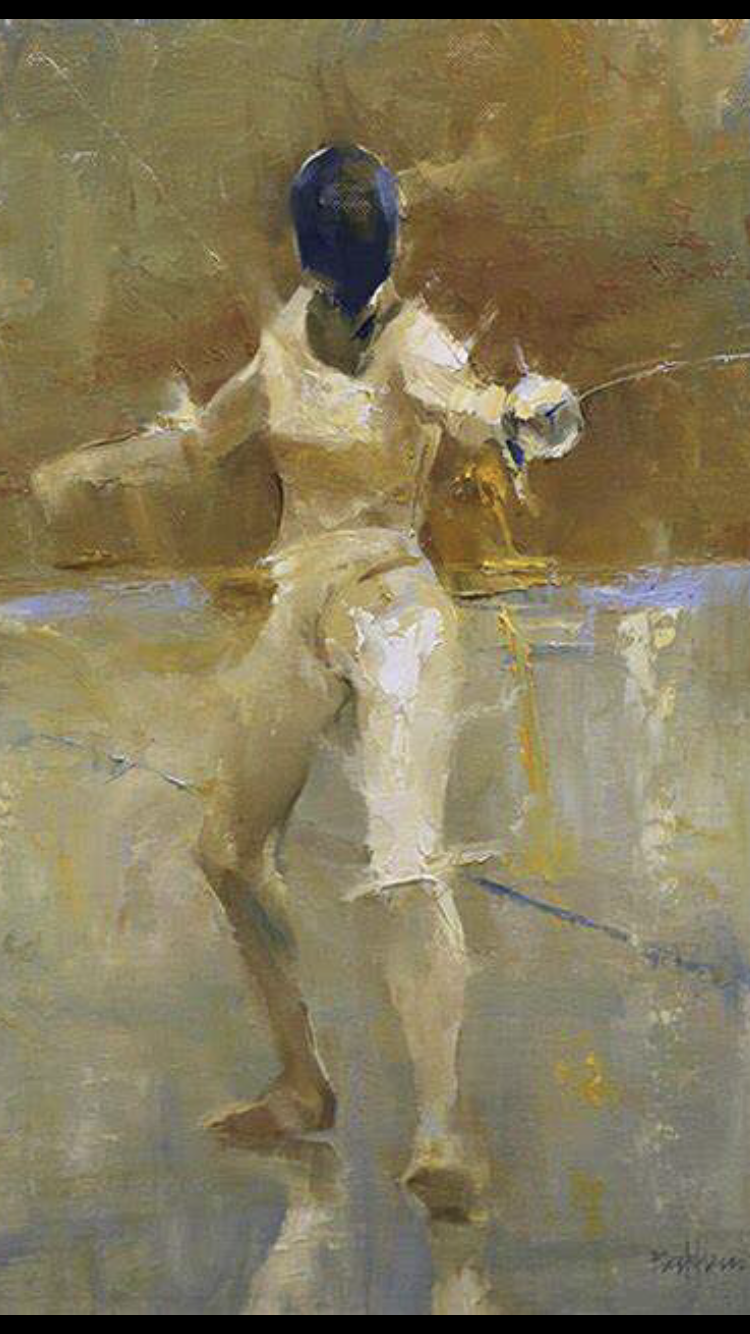 Impressionist fencer - 50+ Amazing Smartphone Fencing  Backgrounds