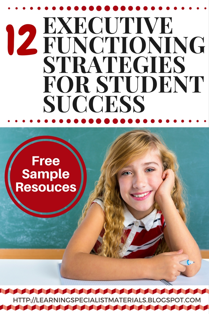 12 Executive Functioning Strategies for Student Success