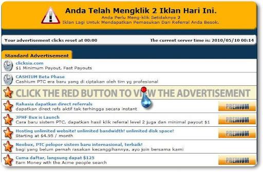 Cara mendapatkan uang dari internet via idr clickit