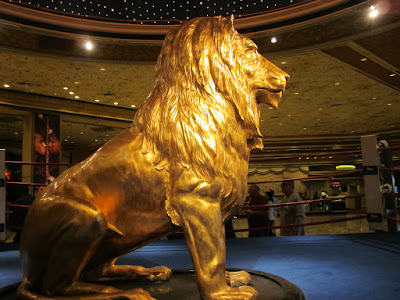 MGM gold lion lobby side mane majestic photo