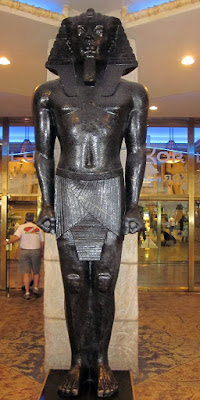 Luxor egyptian statue lobby photo
