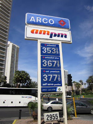 Arco AMPM gas price sign vegas photo