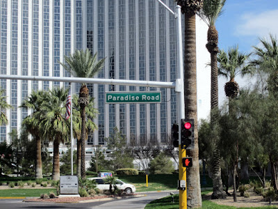 Paradise sign vegas palm tree photo