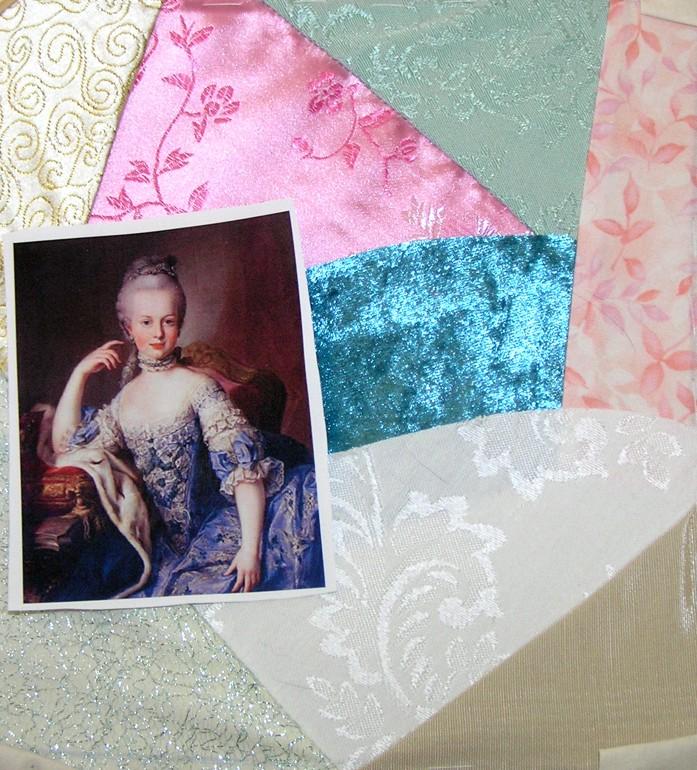 Marie Antoinette Crazy Quilt Block