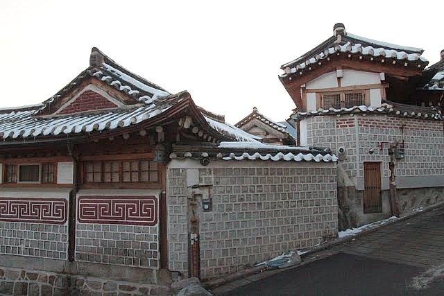 hanok village rooftops