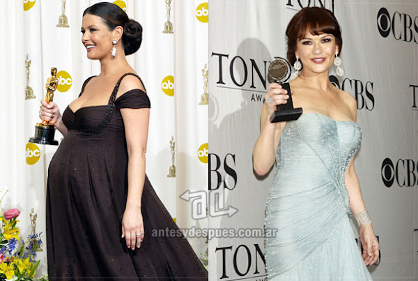 Antes y despues de Catherine-Zeta-Jones embarazada