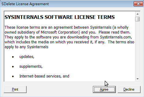 SDelete License Agreement