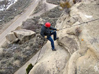 Rappelling in Spring Canyon