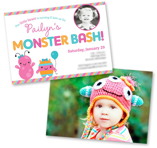Little Monsters invitation - Chickabug.com