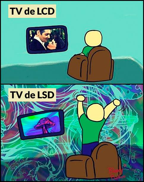 lcd lsd Experiência televisiva