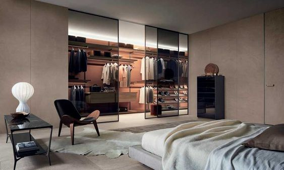 Walk-in Closet Ideas with Glass
