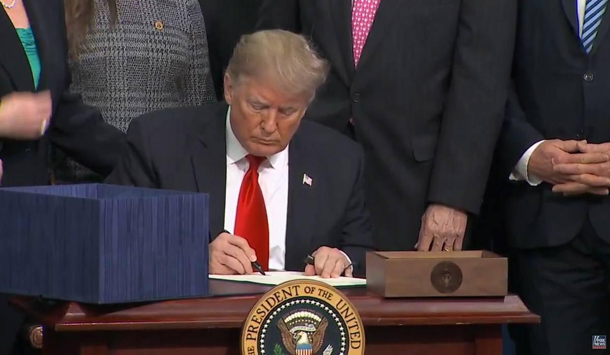 President Trump signing the 2018 Farm Bill