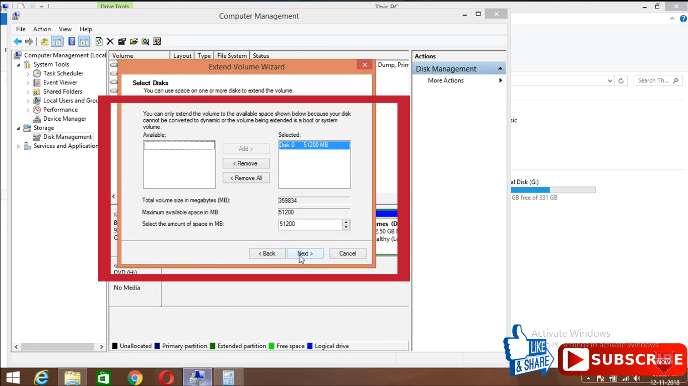 Partition of Hard disks in windows - Extend a partition - TechSurff