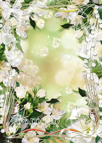 Цветочная рамка для фото – Цветы нам дарят вдохновенье