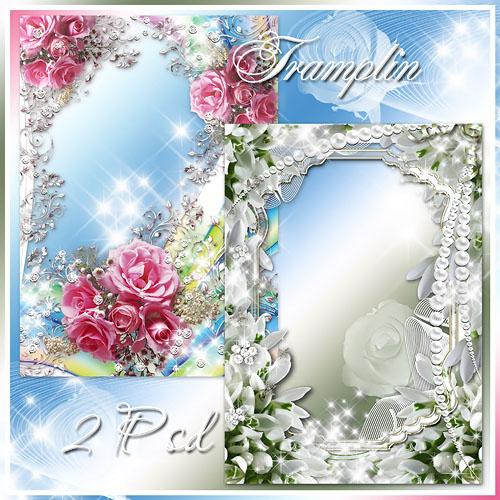 2 Весенние цветочные рамочки - Тихий шёпот, нежность тут