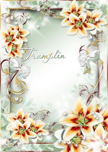 Рамка для фото – Царство задумчивых лилий