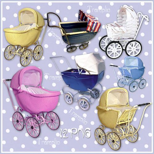 Клипарт в Png – Детские коляски