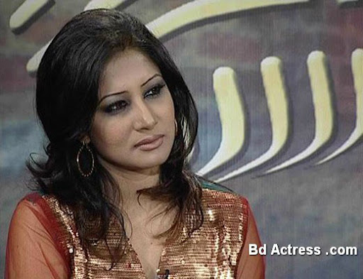 Bangladeshi Model Farah Ruma in a TV show