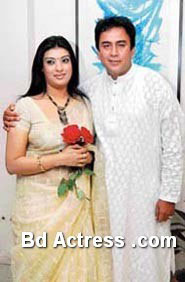 Bangladeshi Model Mou and her husband