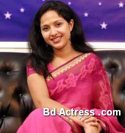Bangladeshi Model Nadia Ahmed in TV program