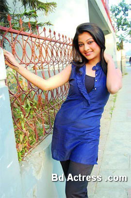 Bangladeshi Model Sarika blue wear