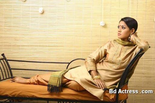Bangladeshi Model Tisha on chair