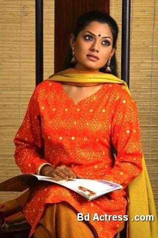 Bangladeshi Model Tisha red wear