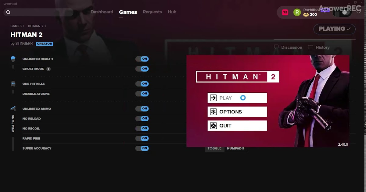 Hitman 2 Cheats and Trainers for PC - WeMod