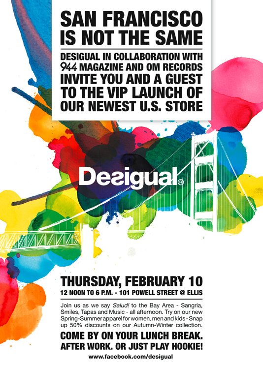 desigual - san francisco store advertisement