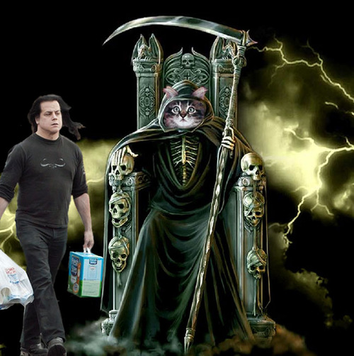 Danzig in service to his dark lord...