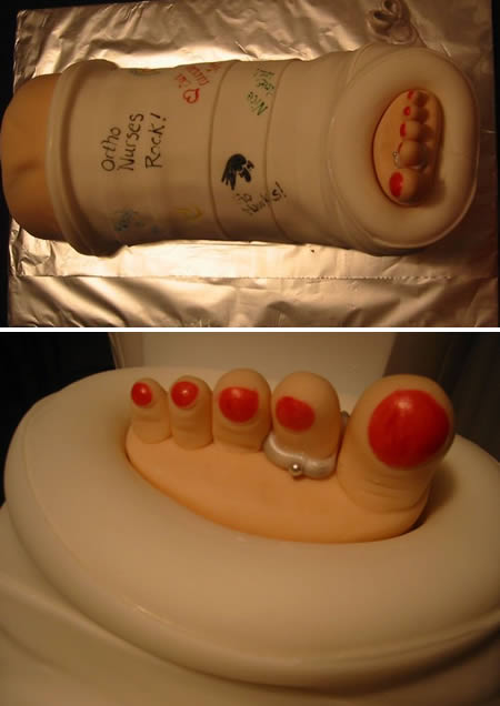 You may seen unusual cakes before what about Medical cakes