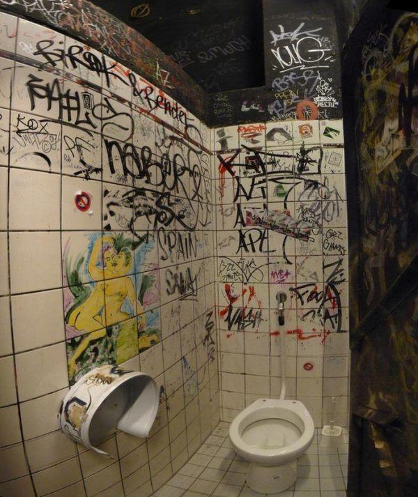 Cool Bathroom Graffiti 51 creative bathroom wall graffiti designs | barbie's style
