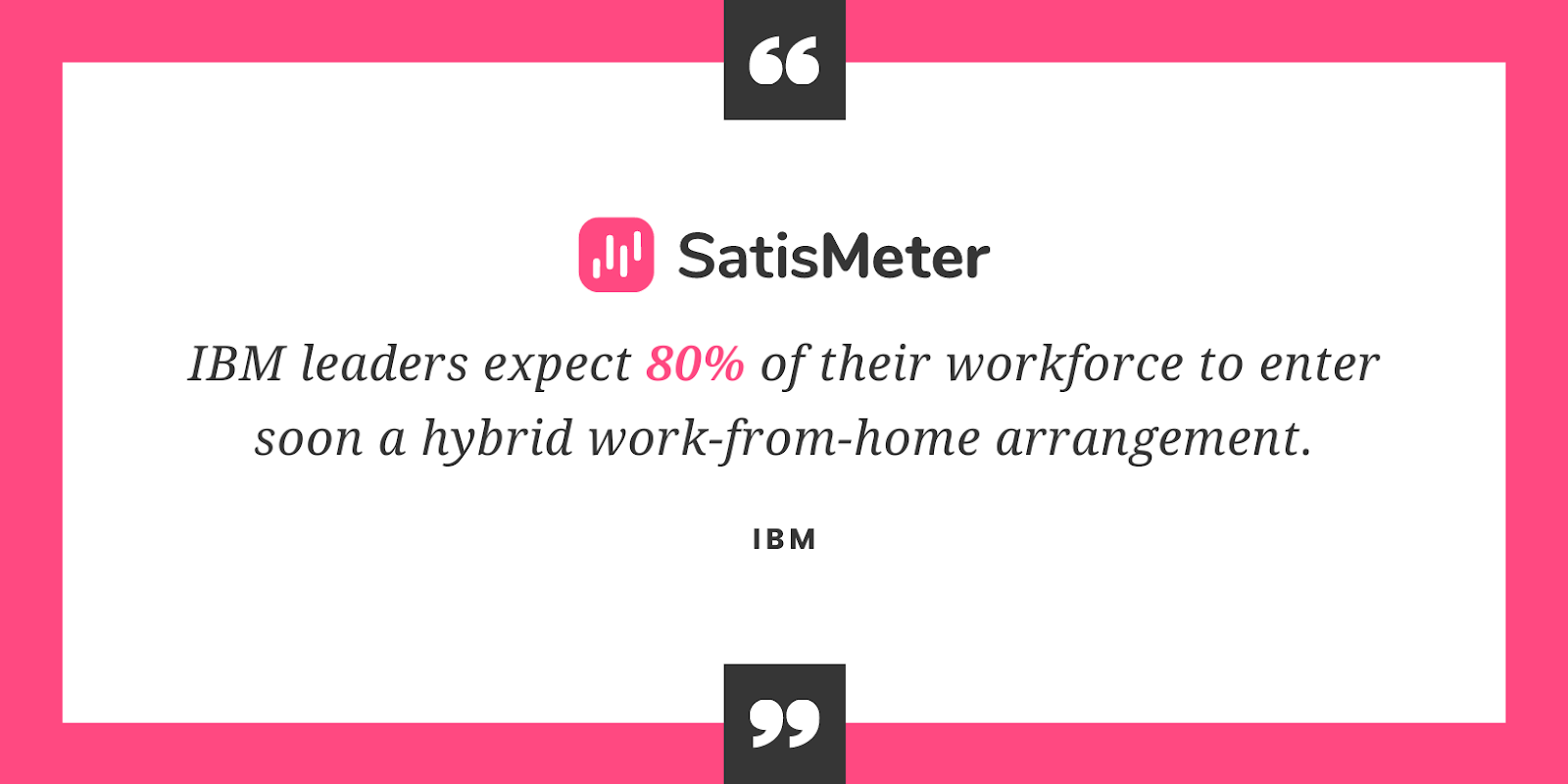 IBM leaders expect 80% of their workforce to enter a hybrid work-from-home arrangement.