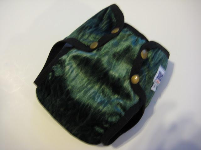 Green Tie-Dyed Med La-Di-Da Diaper Cover