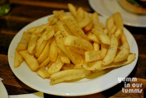 Grilled chips with seas salt & rosemary
