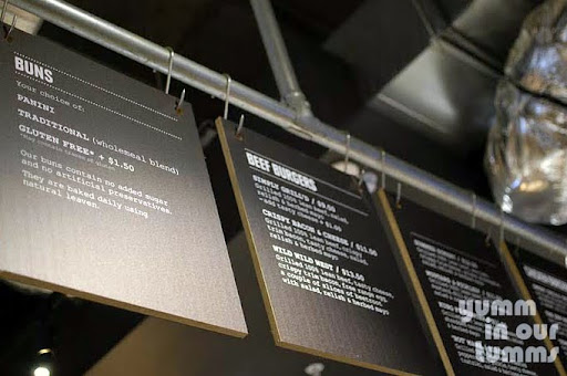 Grilld Claremont burger menu boards