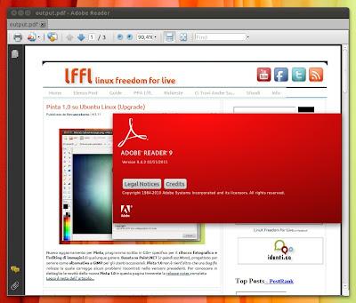 Adobe Reader su Linux