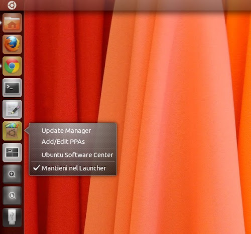 Quicklist per Ubuntu Software Center