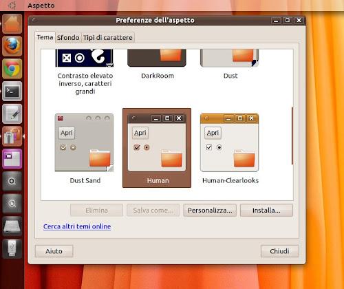 Tema Human su Ubuntu
