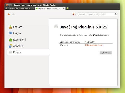 Installiamo Java 6 update 25 su Ubuntu
