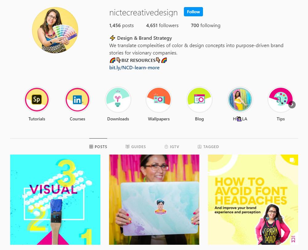 Nicte Creative Design Instagram profile