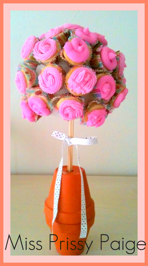 Cupcake Topiary Tutorial