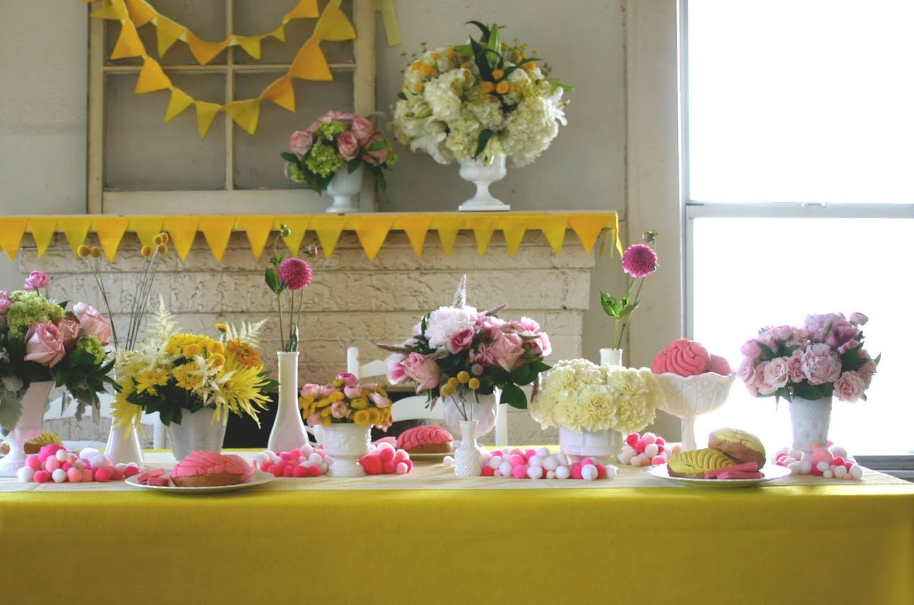 Gorgeous Pink & Yellow Dessert Table